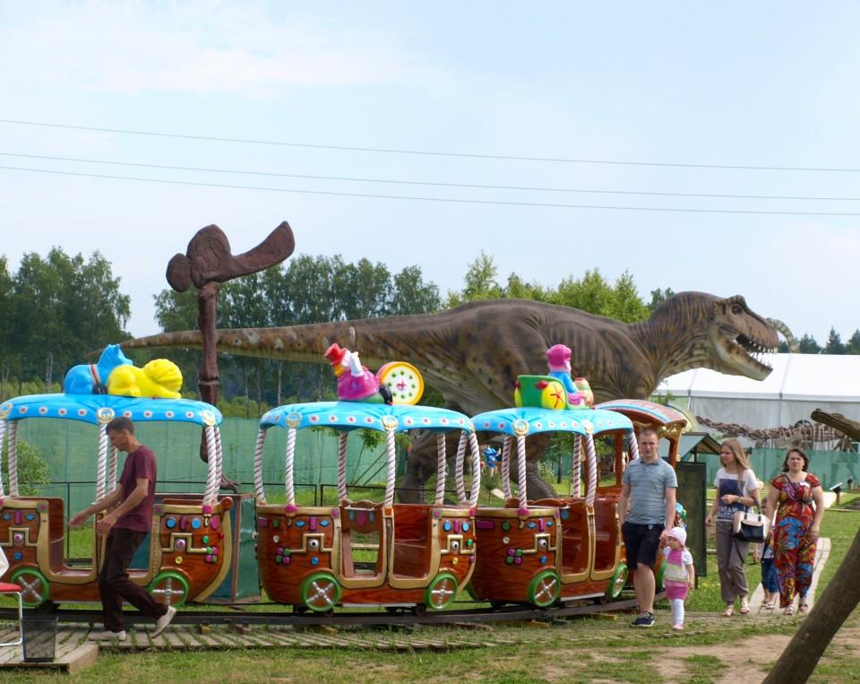 Dino pramogų parkas traukinukas