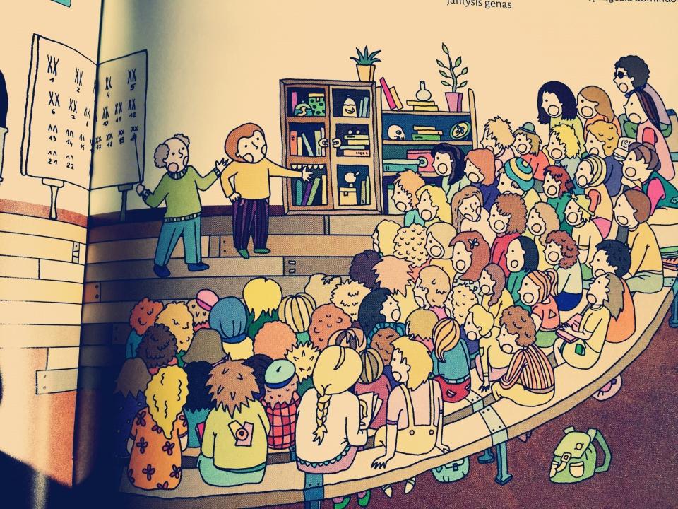 Aš ir pasaulis iliustracijos